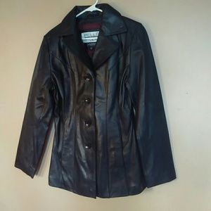 NWOT Pelle Studio Small Black Leather Jacket